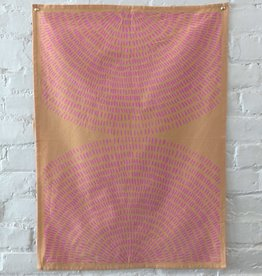 The Rise and Fall Fireworks Kitchen Towel - Peach