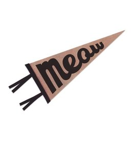 The Rise and Fall Meow Felt Pennant