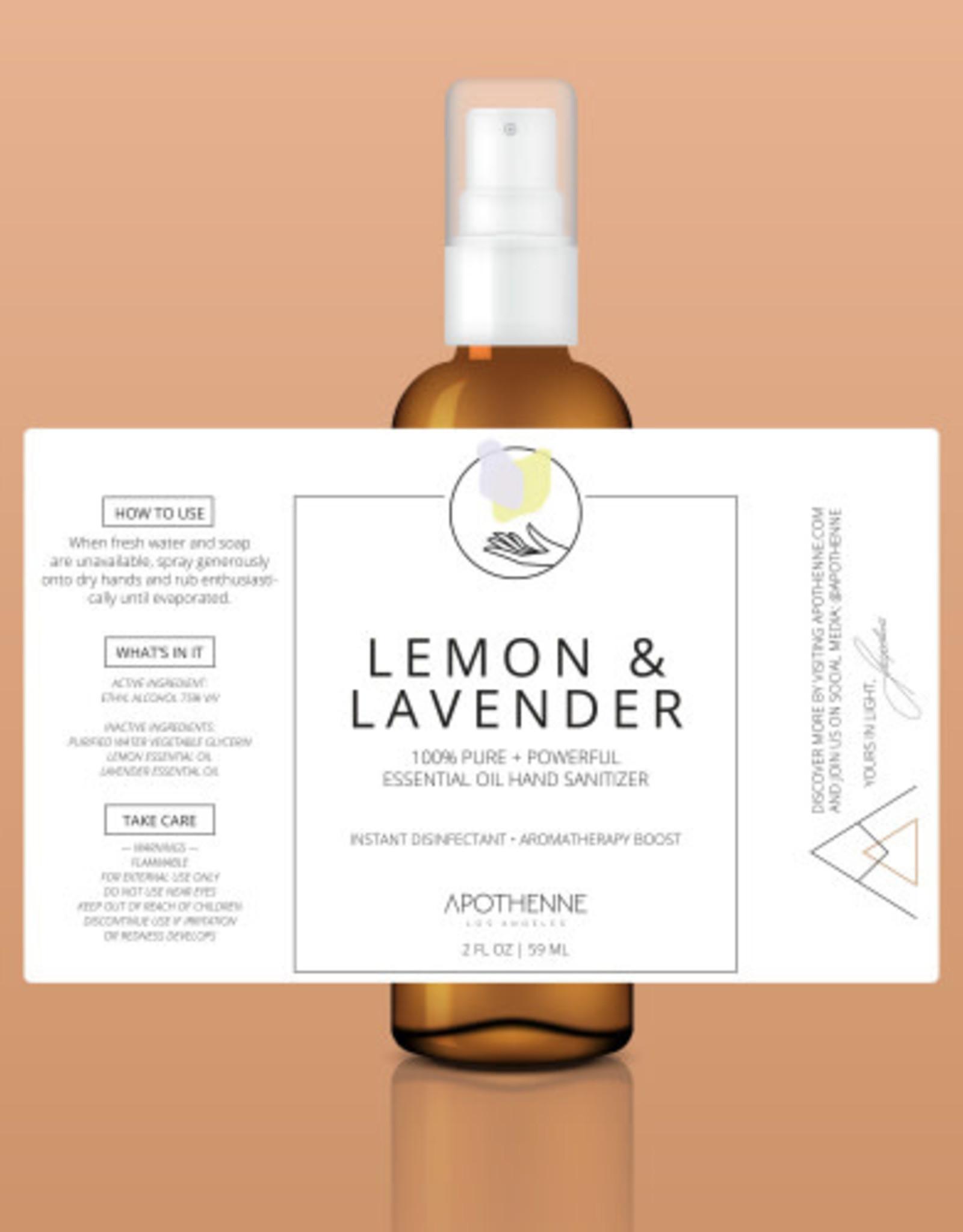 Apothenne 2 oz Hand Sanitizer Lemon & Lavender