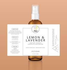 Apothenne 2 oz Hand Sanitizer Lemon & Lavender