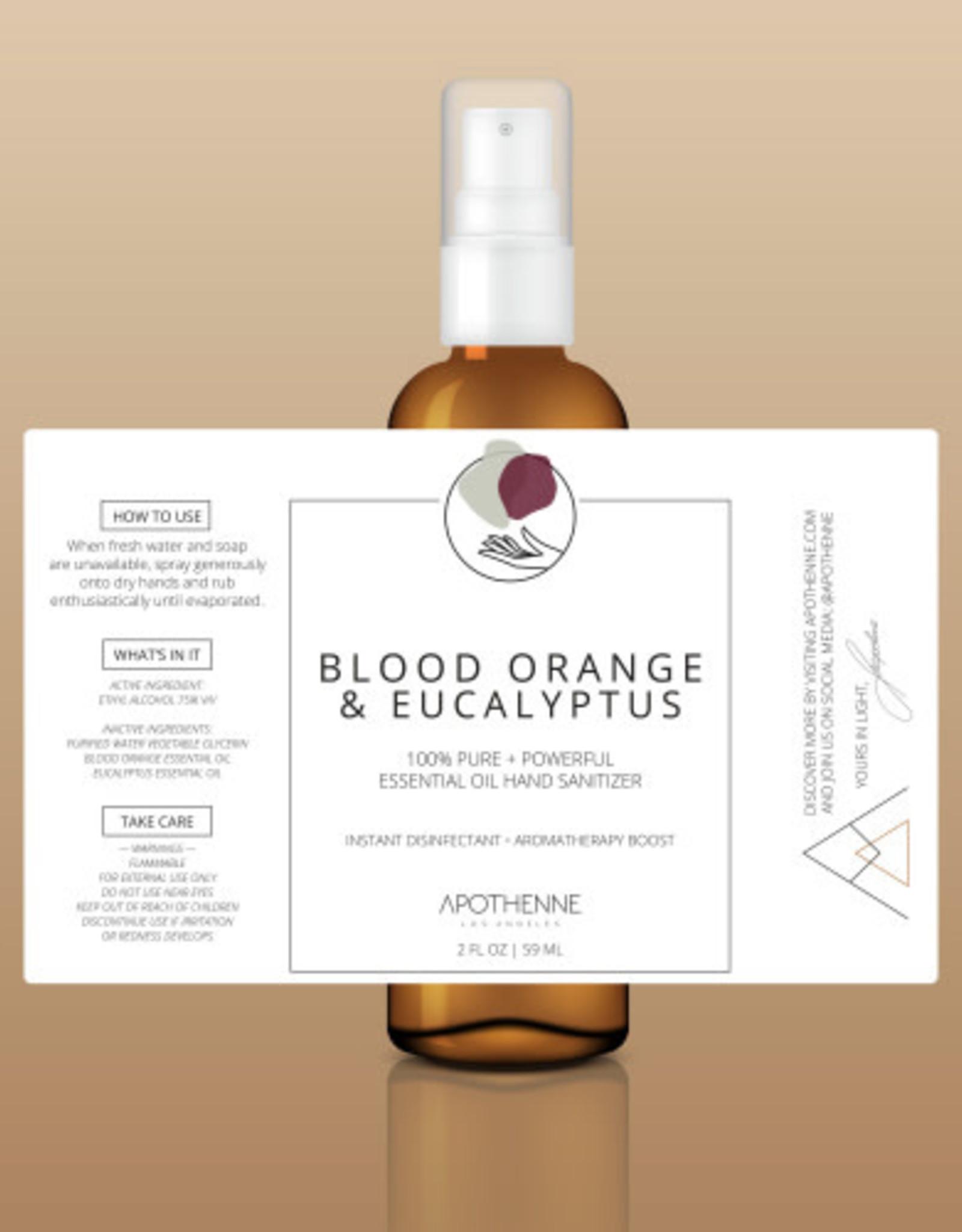Apothenne 2 oz Hand Sanitizer Blood Orange & Eucalyptus