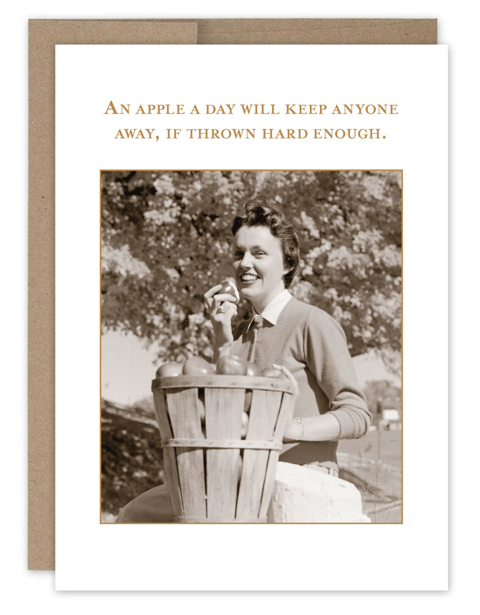 Shannon Martin Design SM601 An Apple a Day Card