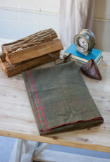 Kalalou Green Cotton-Blend Utility Blanket