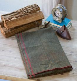 Kalalou Green Cotton-Blend Utility Blanket