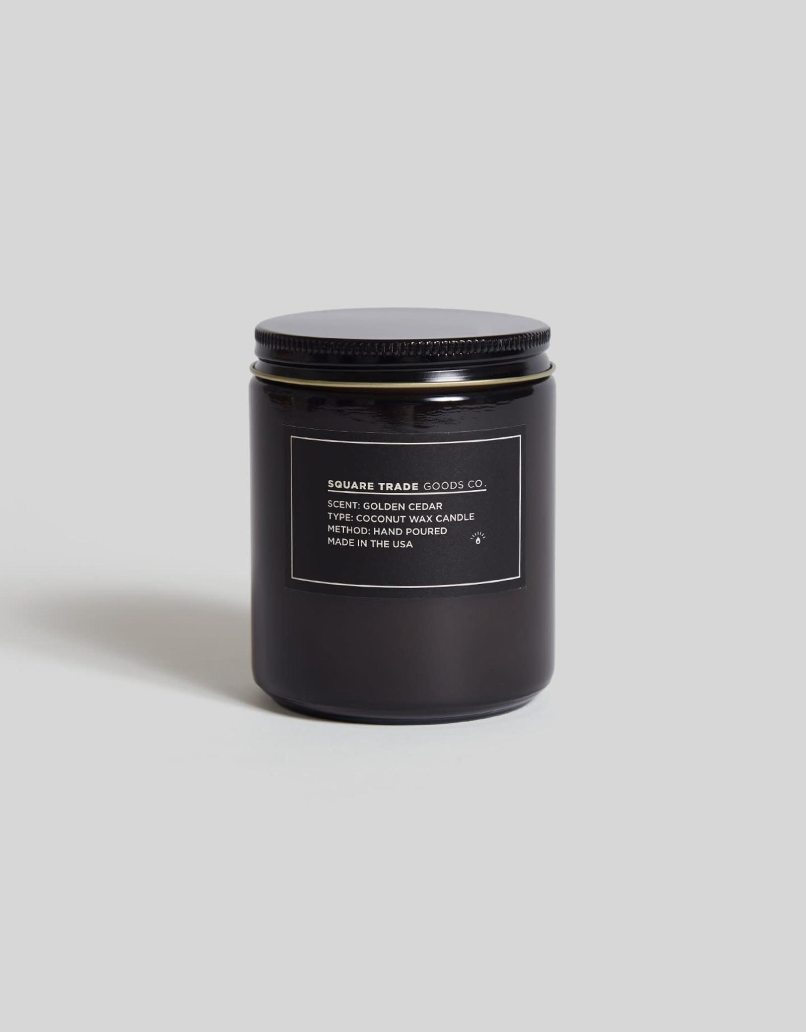 Square Trade Goods Co Golden Cedar Candle
