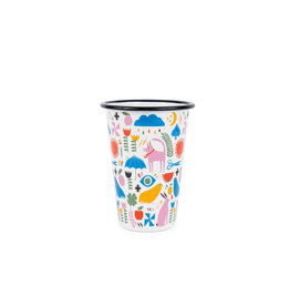 Crow Canyon SET 4 // Lisa Congdon x CCH Pink Dog Tumbler 14 oz