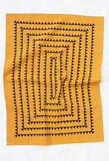 The Rise and Fall Sawtooth Towel - Ochre