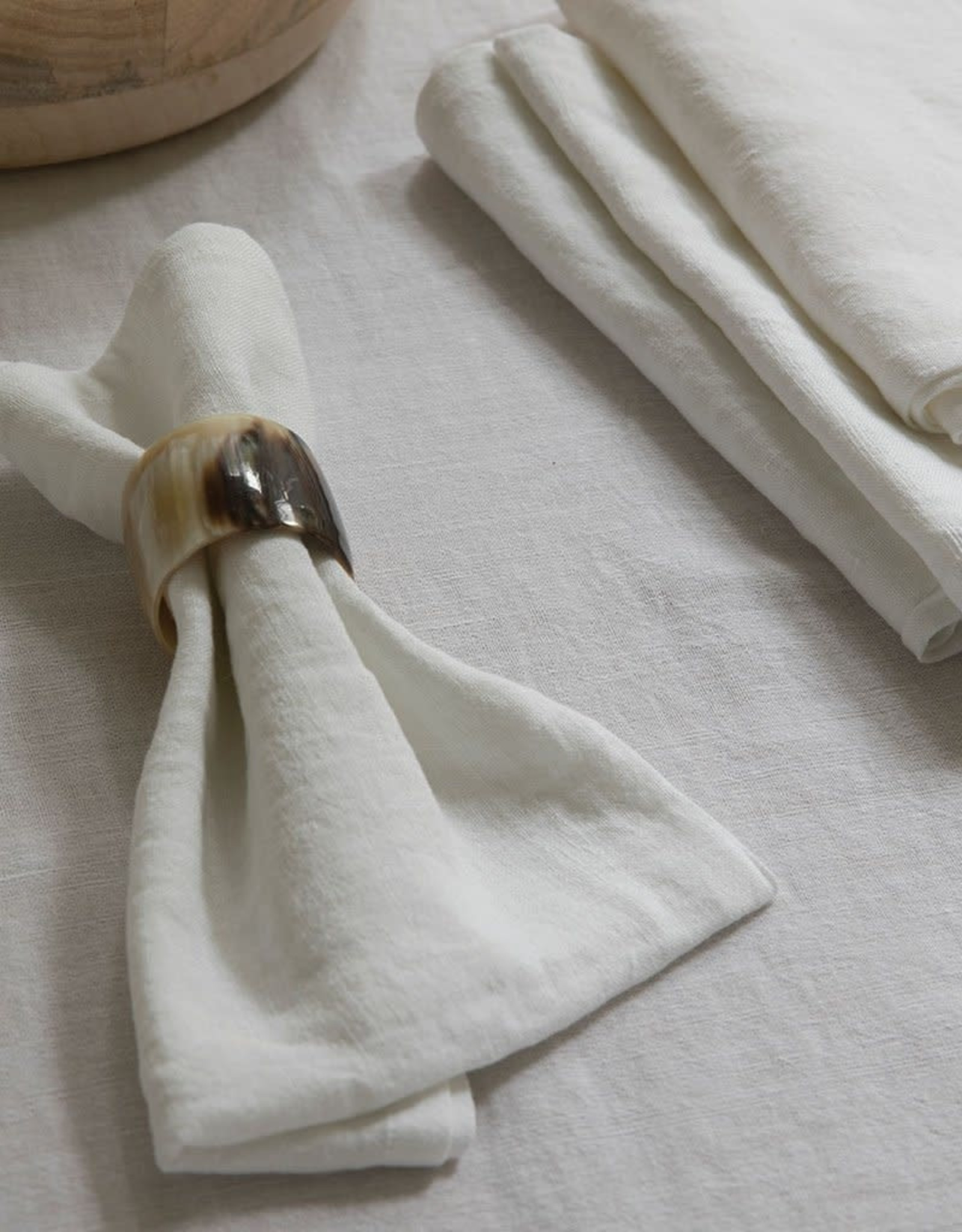 """Be Home Linen Tablecloth, White, 70"""" x 108"""""""