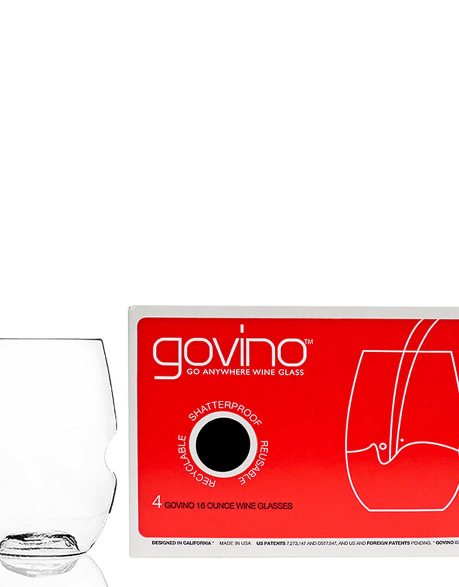Go Vino 16oz Stemless Wine Glass Set of Four