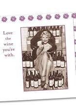 Shannon Martin Design SMN95 Love Wine With  Napkin