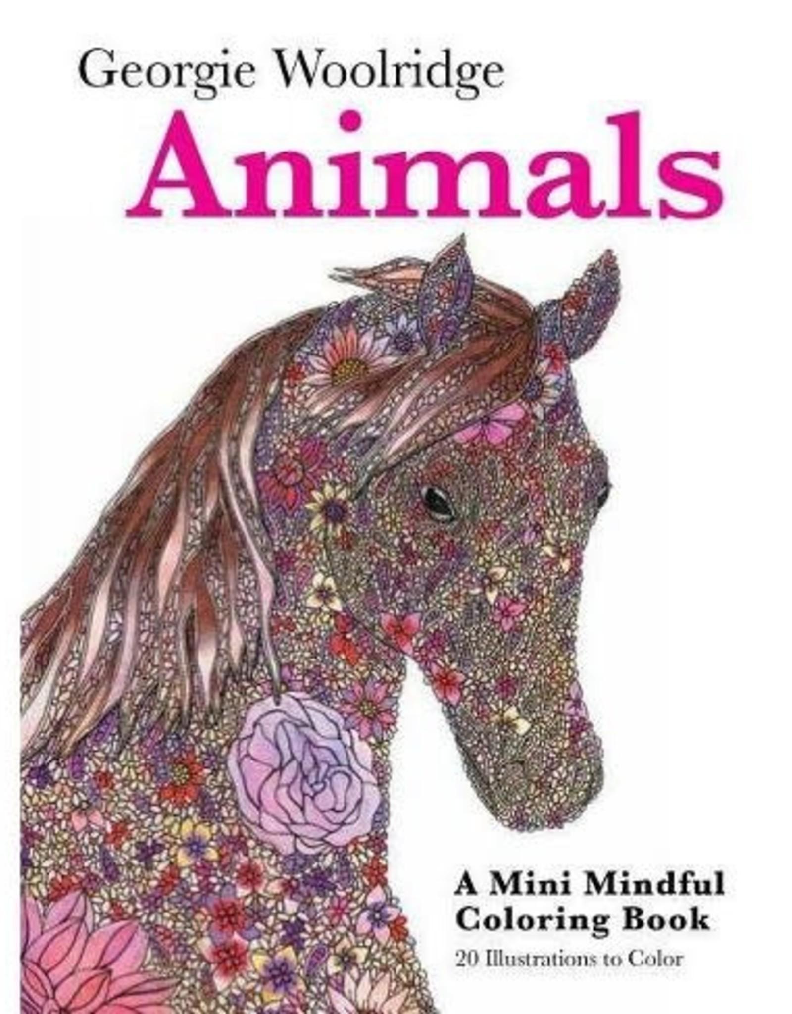 Animals: Mini/Coloring Book