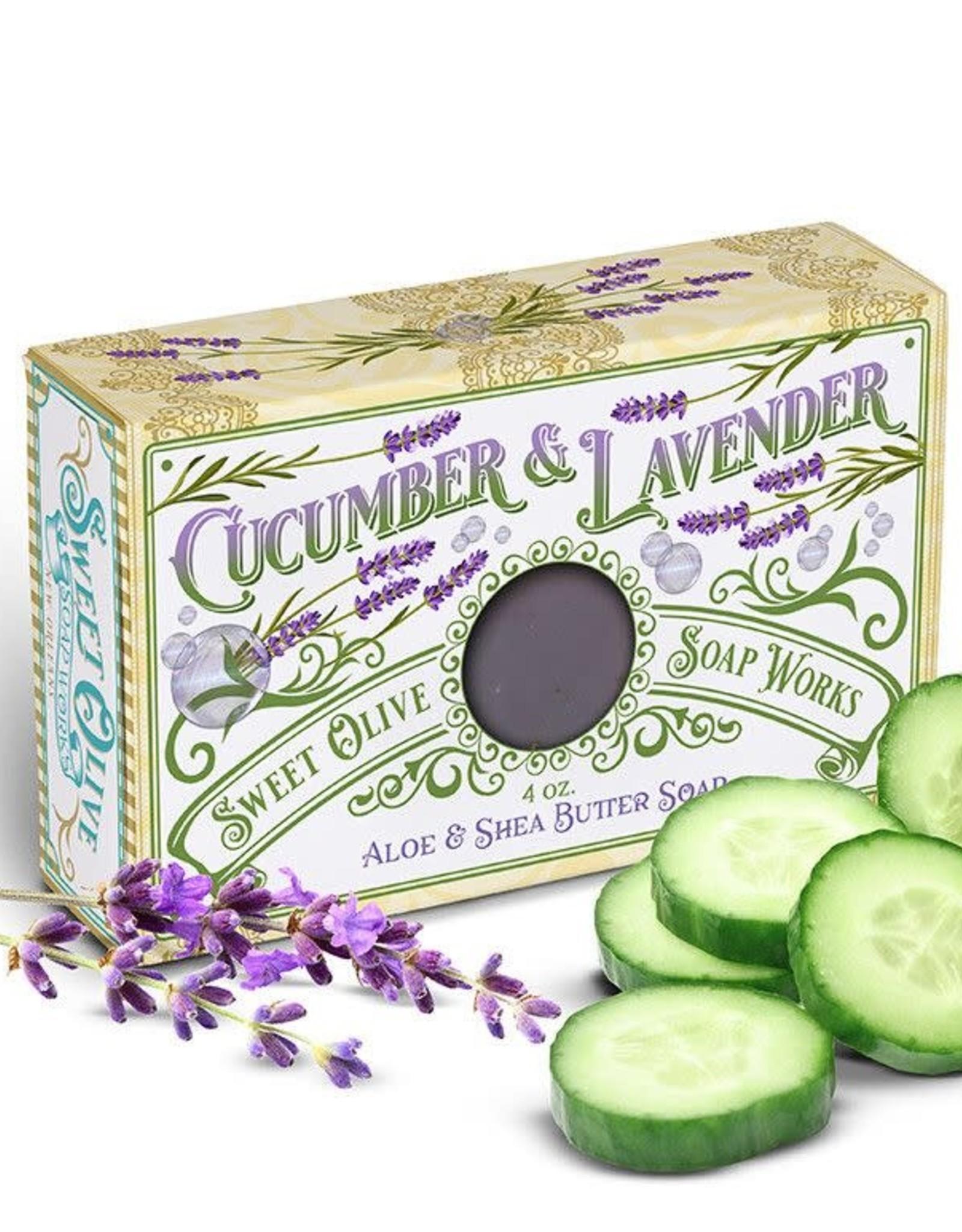 Sweet Olive Soap Works Cucumber & Lavender  Bar Soap