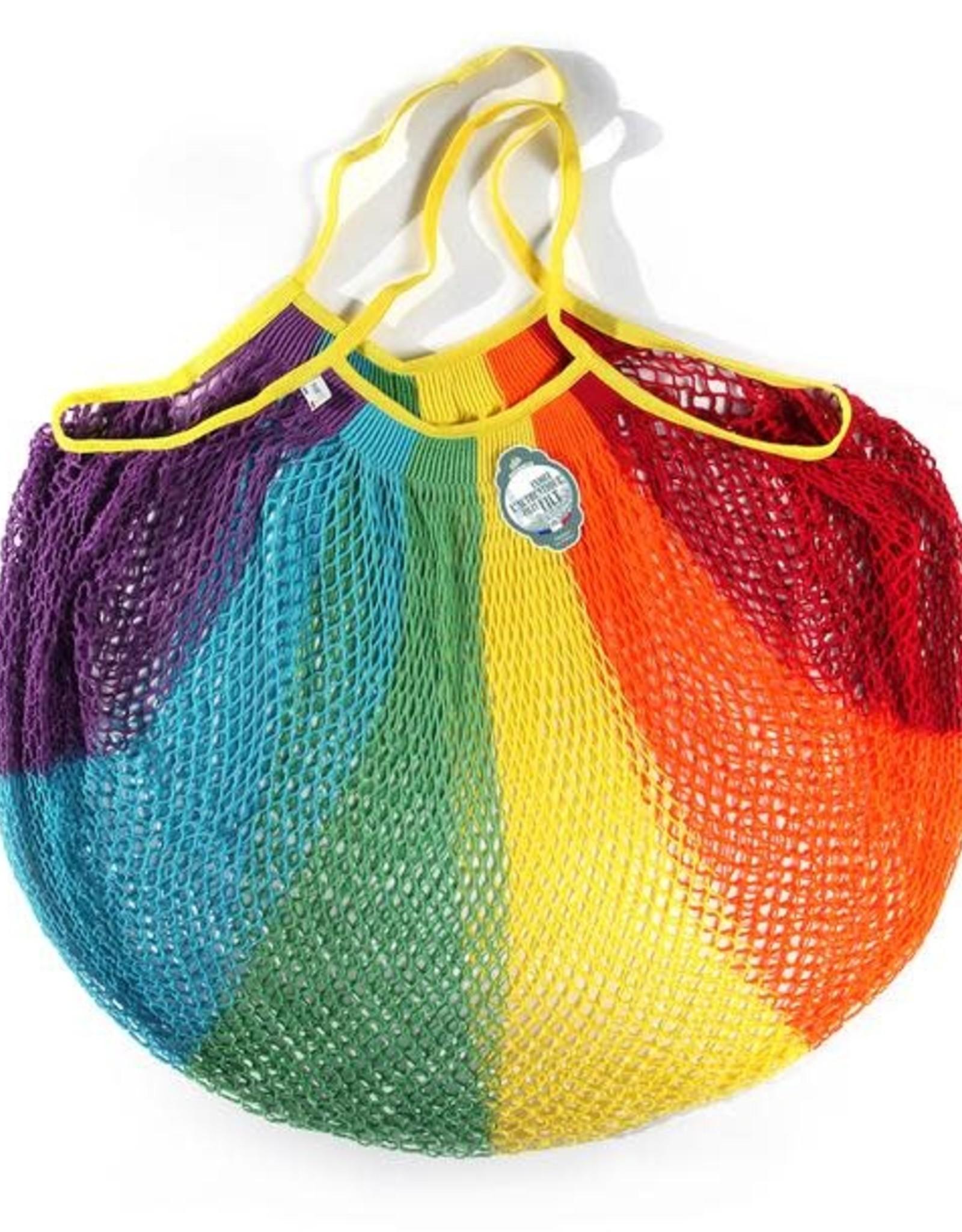 Le Filet Filt Filt Cotton Shopper, Large, Rainbow