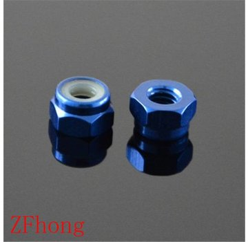 ExcelRC Lock Nut with nylon insert and NO flange M3 Blue 1 PCS