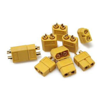 ExcelRC High Quality XT60 Male and Female Plugs One Pair Yellow