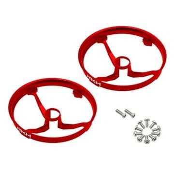 Rakon CNC AL Propeller Guards (Red) - Blade Inductrix