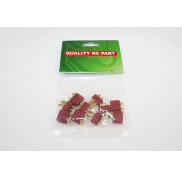 ExcelRC T Plugs (5 Pairs Deans Compatible)