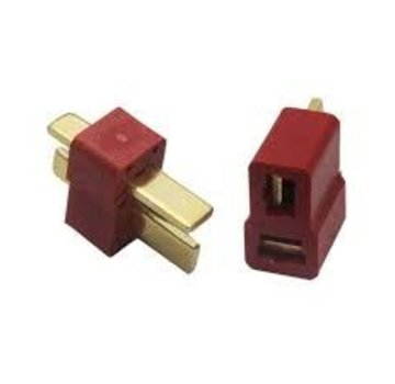 ExcelRC 1 Pair T Connector Male and Female Dean Plugs