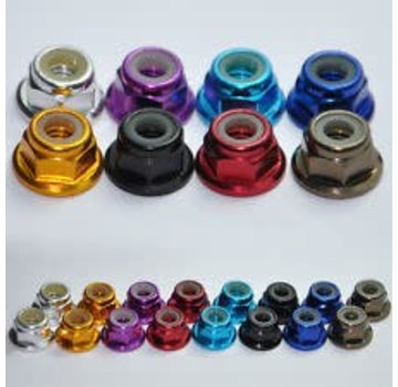 ExcelRC Ultra Light Anodized M5 Lock Nuts Gold (set of 4)