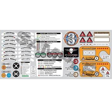 ExcelRC DJI Phantom Pilots ID Sticker Decal Set for DJI Phantom 3 Series Controllers
