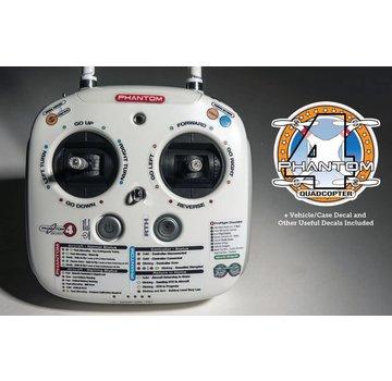 DJI Phantom Pilots Controller Guide Decal Set for DJI Phantom 4 Drones