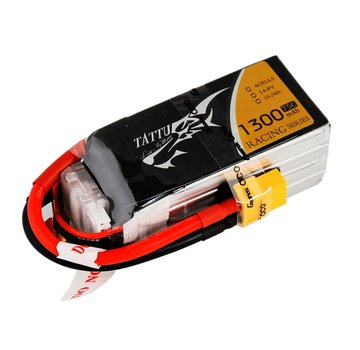 Tattu Tattu 1300mAh 14.8V 75C 4S1P Lipo Battery Pack Racing