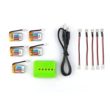 Eachine Eachine E010 3.7V 150mAh 5 x Battery with USB Multi Charger