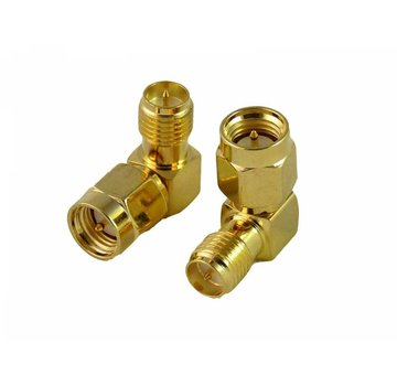ExcelRC Right Angle SMA Male to RP-SMA Female Adapter