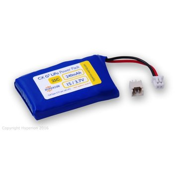 Hyperion HYPERION G3 CX 240MAH 25C/45C 3.7V SINGLE CELL M TYP