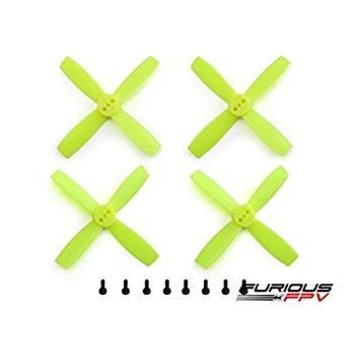 FURIOUS FPV Furious FPV Propellers High Performance-Neon Yellow-2435-4-Blade