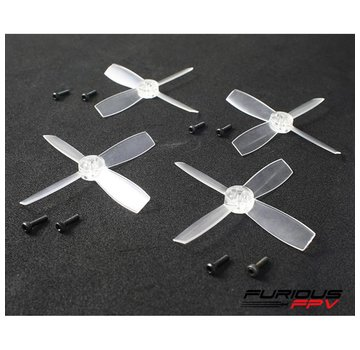 FURIOUS FPV Furious FPV Propellers High Performance-Transparent-2435-4-Blade