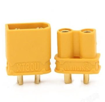 ExcelRC AMASS XT30 Anti-slip Power Connector Plug Male and Female One Pair Yellow