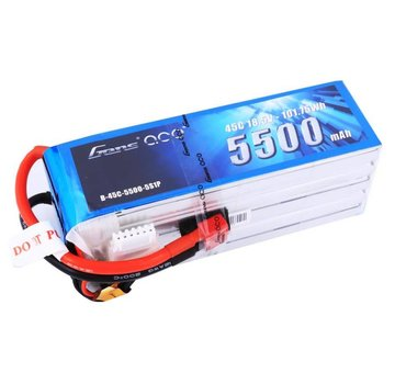 Gens Ace Gens ace 5500mAh 18.5V 45C 5S1P Lipo Battery Pack with Deans Plug