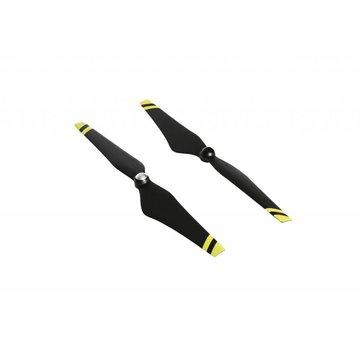 DJI E600 12*4.2 Self tightening black props (yellow strips)