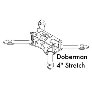 Detroit Multirotor DETROIT MULTIROTOR Doberman 4 inch Stretch