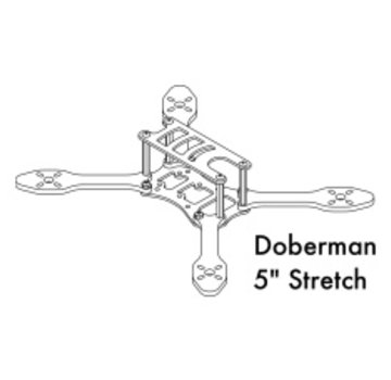 Detroit Multirotor DETROIT MULTIROTOR Doberman 5 inch Stretch Replacement Arm