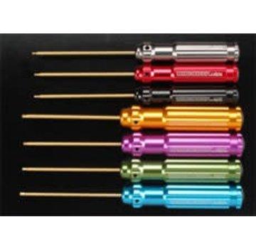 Integy Integy C22346 Ti-Nitride Hex Wrench Set (7)