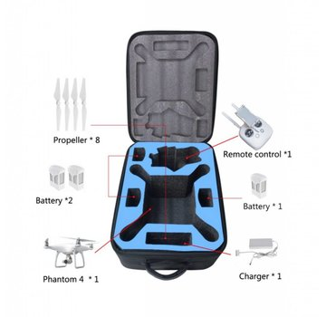 ExcelRC DJI Phantom 4 or Phantom 3 Backpack Black Drone Bag Fabric New Design