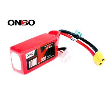 Onbo ONBO 1000mAh 4S 14.8V 95C FPV Racing Dones quads Lipo Battery(XT60)