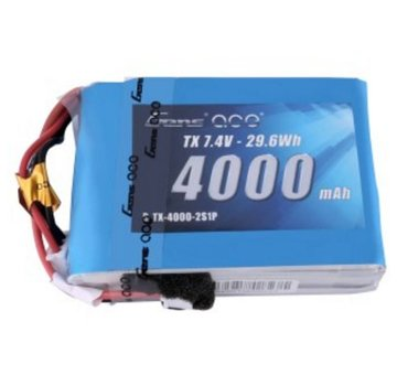 Gens Ace Gens ace 4000mAh 7.4V 2S1P TX Lipo Battery Pack with JST-EHR plug