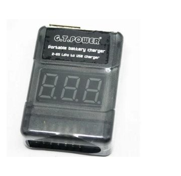 G.T. Power G.T. Power Portable Battery Charger to USB Charger and Tester 2-6s