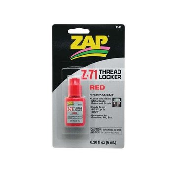 Zap PT71 Red Thread Locker .20 oz PAAR2271 PACER