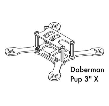 Detroit Multirotor DETROIT MULTIROTOR Doberman PUP 3 inch X Frame