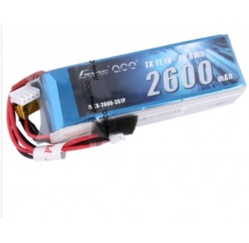 Gens Ace Gens ace 2600mAh 11.1V 3S1P TX Lipo Battery Pack with JR plug