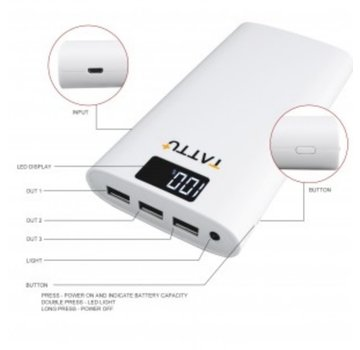 Tattu Tattu 10400mAh Power Bank Portable External Charger