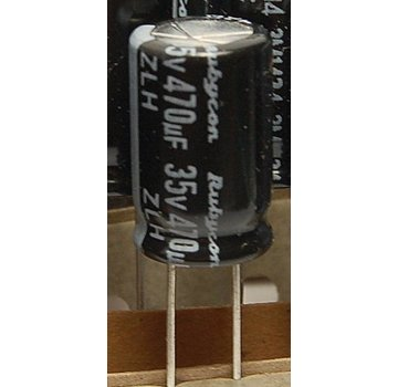 ExcelRC Electrolytic Capacitor 470uf 35v 35v470uf Rubycon ZLH 105°C Low ESR