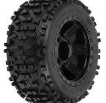 Pro-Line Pro-Line Badlands 3.8 TRA Mnt Desperado 1/2Off 17mm Wheel Black