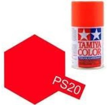 Tamiya Tamiya Polycarbonate Paint  PS-20 Fluorescent Red