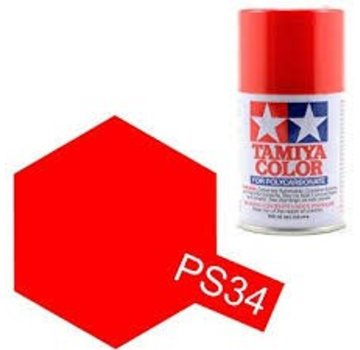 Tamiya Tamiya Polycarbonate Paint  PS-34 Bright Red