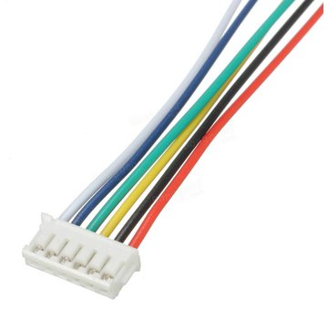 ExcelRC Excel Mini Micro JST 1.5mm ZH 6-Pin Connector Plug and Wires Cables 15cm